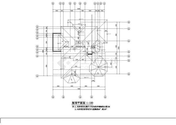 成都市高云别墅区367平米2层砖混结构高档私人别墅建筑设计CAD图纸-图一