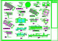 某市半岛景观cad施工设计图纸-图一