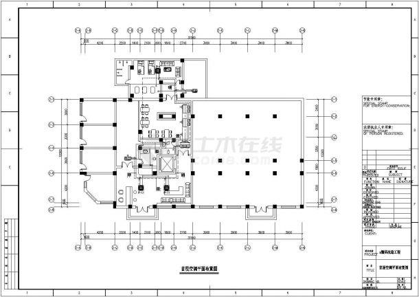 中型宾馆中央空调和卫生热水全套设计cad施工方案图(共9张)-图二