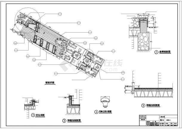 某社区公园景观设计cad施工图纸-图二