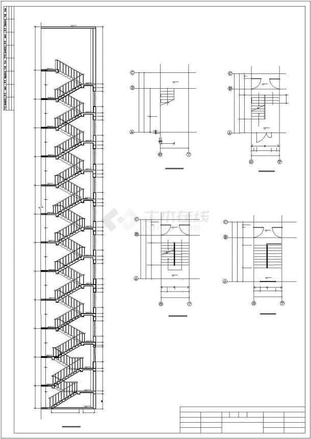 【烟大】9500平方米地下1层地上11层框架剪力墙住宅楼建筑全套cad图,含效果图-图二