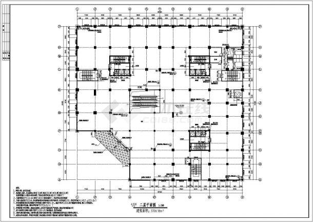 多层商场全套建筑设计方案图-图一