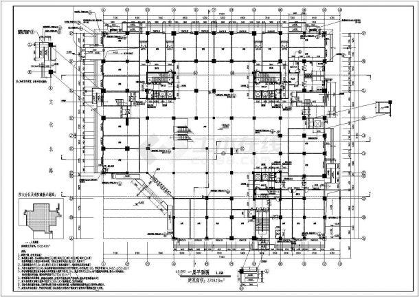 多层商场全套建筑设计方案图-图二