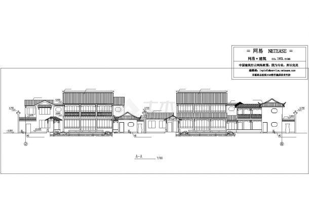 某地区景区古建筑cad设计规划图-图一