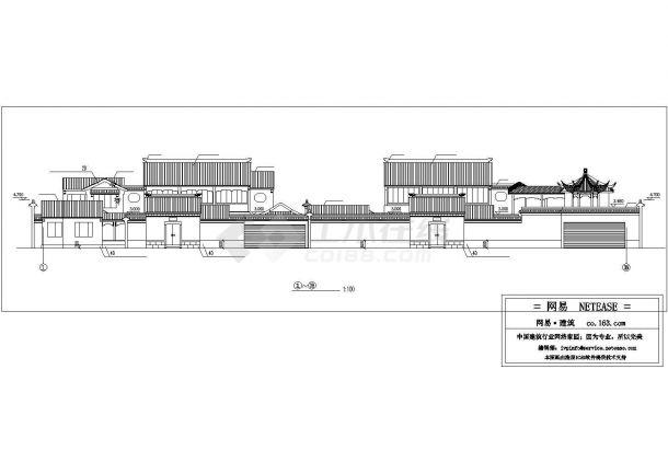 某地区景区古建筑cad设计规划图-图二