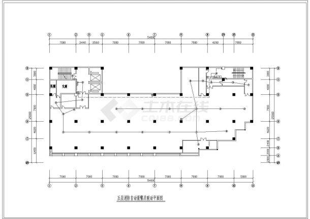 某地区八层消防自动报警及联动平面CAD图-图二
