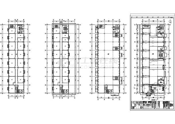 办公楼设计_[河北]多层办公楼电气施工cad图-图一