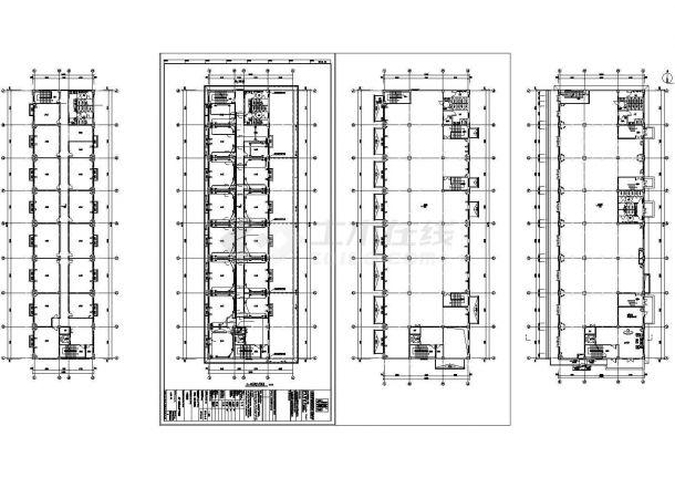 办公楼设计_[河北]多层办公楼电气施工cad图-图二