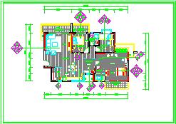 香蜜园三室样板房室内装饰工程cad平面设计施工图-图二