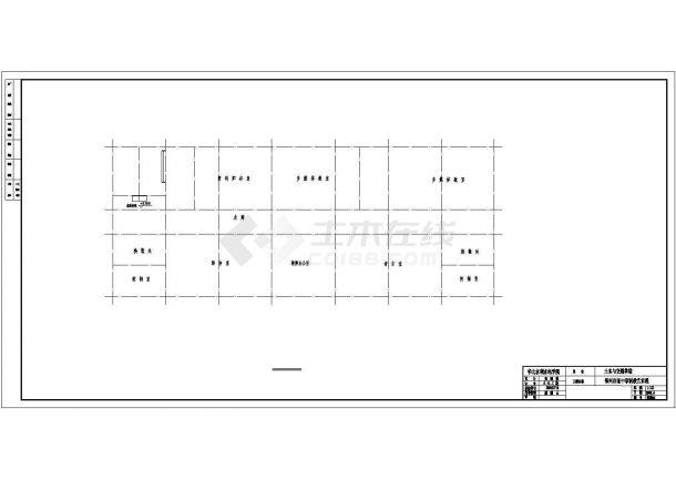 某中学教学楼设计施工方案图-图一