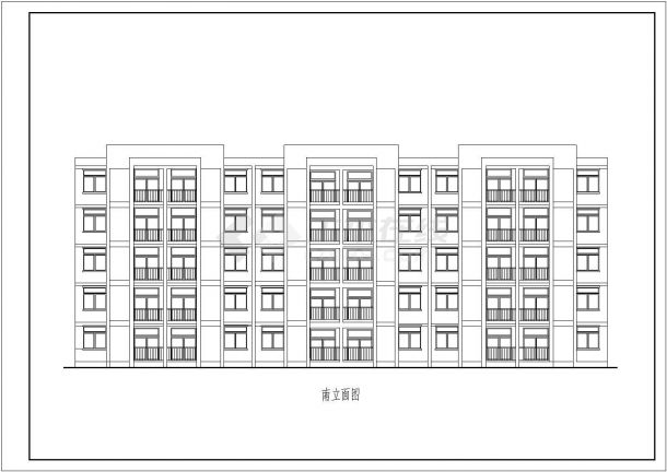 南京某设计工程院3套实用经典廉租房CAD立剖面设计图纸-图一
