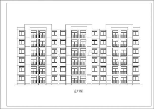 南京某设计工程院3套实用经典廉租房CAD立剖面设计图纸-图二