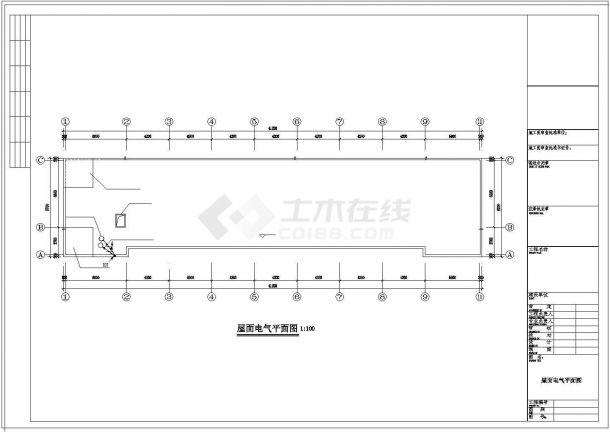 1160平方米某砖混结构小学教学楼电气设计cad施工图-图一