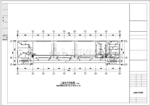 1160平方米某砖混结构小学教学楼电气设计cad施工图-图二