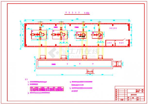 小型水利电站厂房剖面cad设计图纸-图二