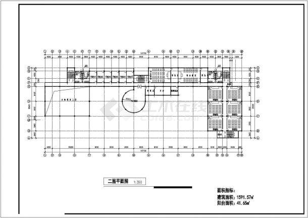 某地区教学综合楼建筑设计方案图-图二