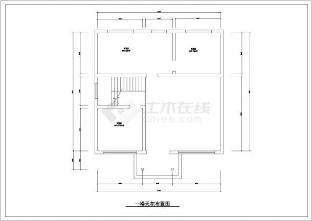 青岛市丰台新村某2层独栋别墅全套装修装饰平面设计CAD图纸-图一