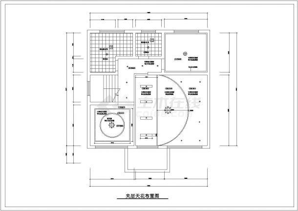 青岛市丰台新村某2层独栋别墅全套装修装饰平面设计CAD图纸-图二