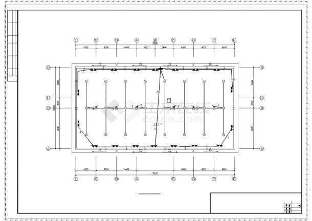 办公楼设计_某三层办公楼电气设计图纸共6张图-图一