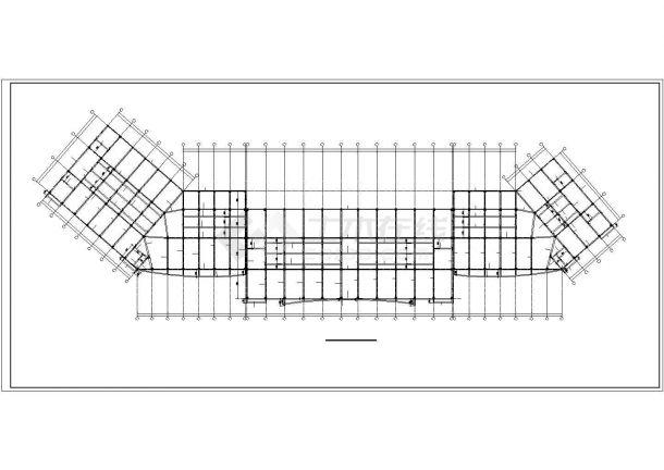某地商用楼框架结构设计施工cad图纸-图二
