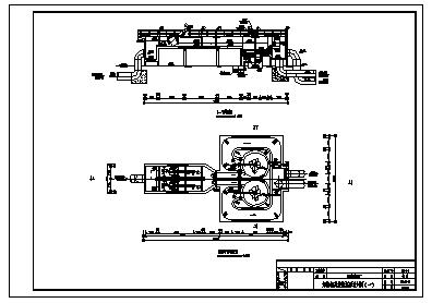 某污水处理厂水处理工艺设计cad图_污水处理厂施工-图一