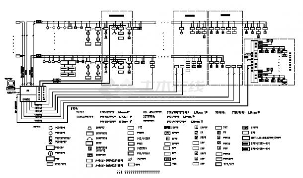 火灾自动报警及消防联动控制系统cad设计图纸-图二