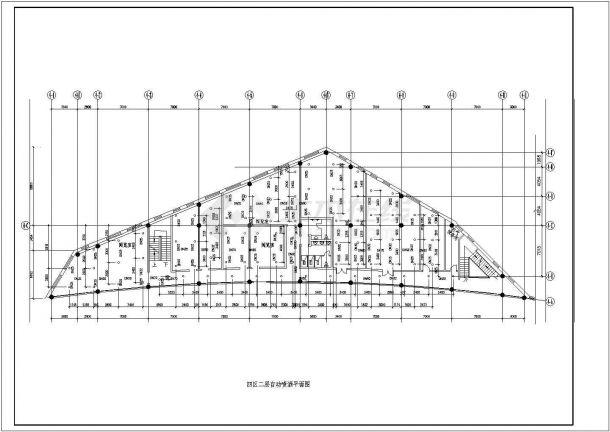 某地区文化艺术中心建筑设计CAD图纸-图一