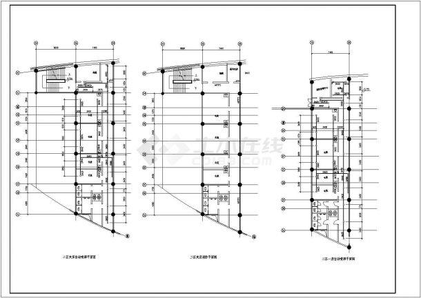 某地区文化艺术中心建筑设计CAD图纸-图二