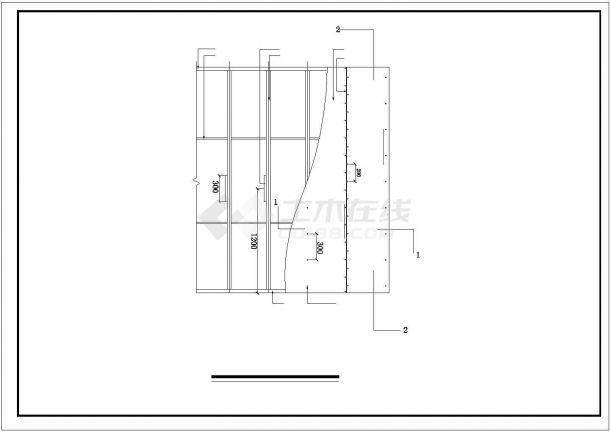 常州某武进区多层商铺楼全套装饰施工设计cad图纸-图一