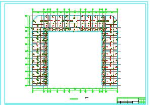 6294平米五层框架中学教学楼毕业设计(计算书、部分建筑、结构图)-图一