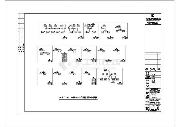 武汉购物中心全套暖通空调专业cad施工图纸设计(含设计说明)-图一