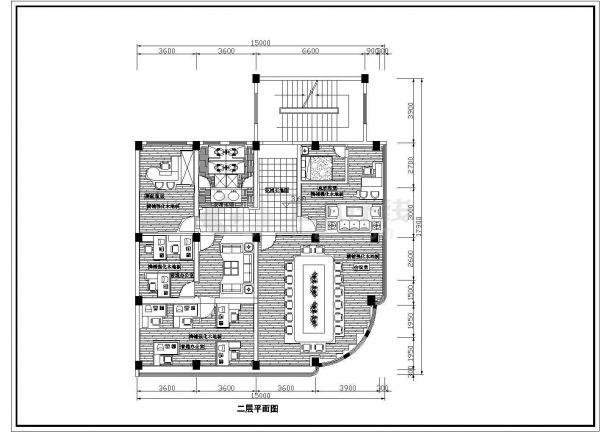 办公楼设计_某电脑软件开发公司三层办公楼室内装修设计cad全套施工图(含设计说明)-图一