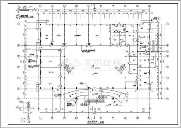 办公楼建筑设计方案CAD图-图一