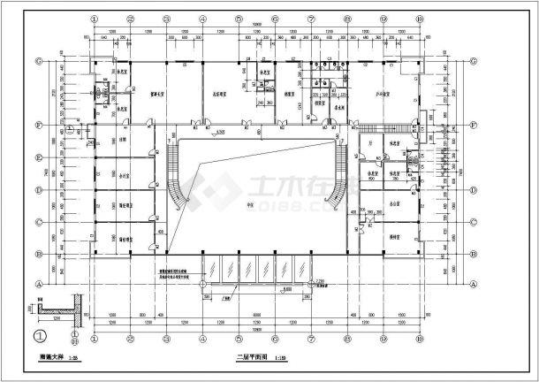 办公楼建筑设计方案CAD图-图二