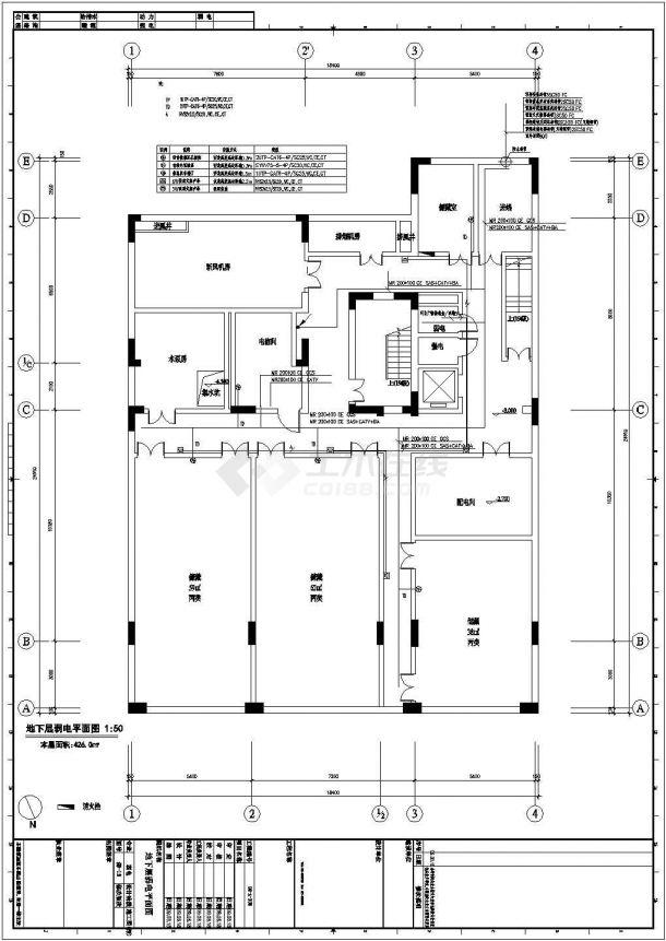 [上海]某大型展览馆弱电系统设计cad全套施工图纸(含设计说明,含楼宇监控、安保系统设计)-图一