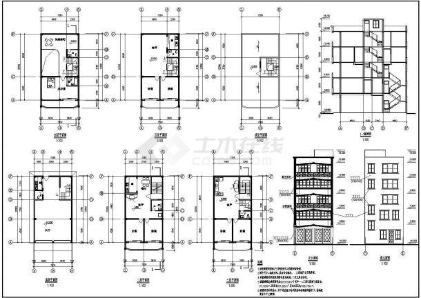 某私人住宅楼建筑设计方案图-图一
