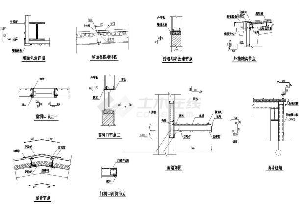 某生产车间建筑平立剖面设计cad施工图-图二