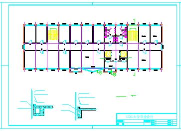 【4层】办公楼全套cad设计(2400平左右,含计算书,施工组织设计,横道图,平面布置图,建筑图, 结构图)-图一