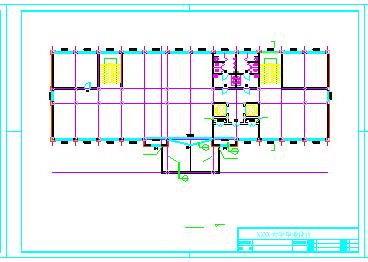 【4层】办公楼全套cad设计(2400平左右,含计算书,施工组织设计,横道图,平面布置图,建筑图, 结构图)-图二