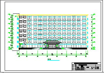 【7层】5535平米框架行政指挥中心cad毕业设计(建筑、结构图、计算书、施组)-图一