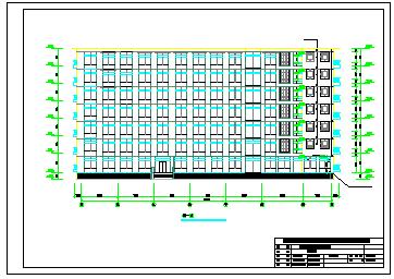 【7层】5535平米框架行政指挥中心cad毕业设计(建筑、结构图、计算书、施组)-图二