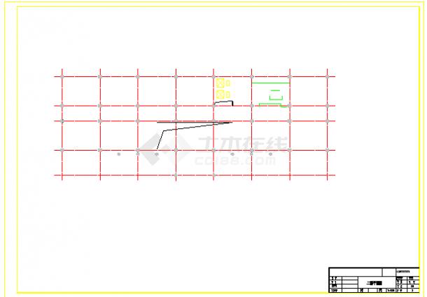 【8层】7680平米框架法院办公楼cad毕业设计(含计算书,建筑,结构图)-图一