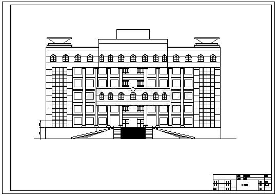 【8层】7680平米框架法院办公楼cad毕业设计(含计算书,建筑,结构图)-图二