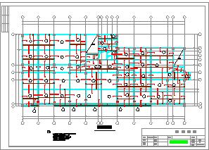 某7层框架办公楼cad设计(含计算书、施工组织设计、建筑结构图)-图一