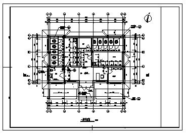 土建公厕设计_某市城区单层砖混结构土建公厕建筑设计cad图纸-图二