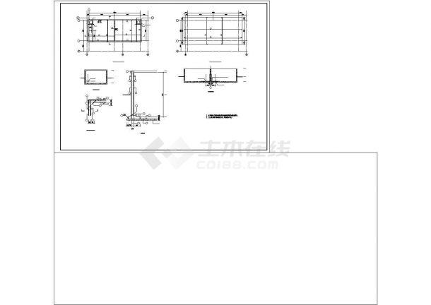 厂房设计_某地区2层联合厂房框架结构设计施工详细方案CAD图纸-图一