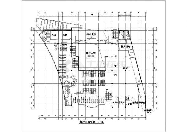 【苏州】2层公立中学校餐厅全套建筑设计cad图【平立剖】-图二