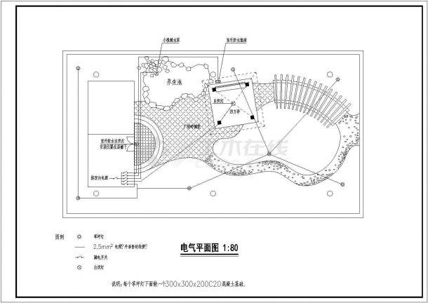 某住宅楼屋顶花园景观绿化规划设计cad全套施工图(含设计说明)-图一