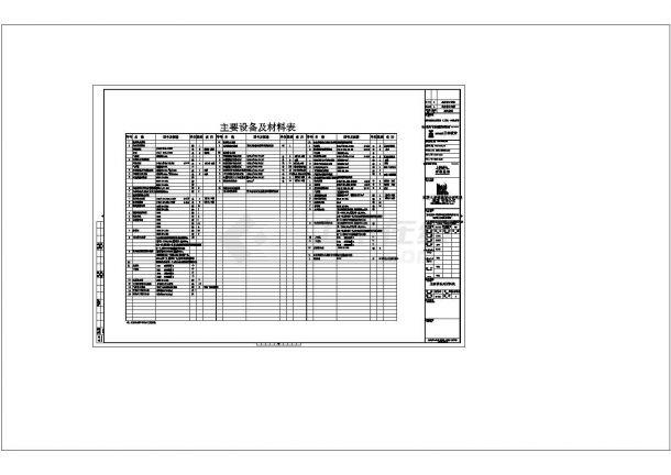 上海闸北商办建筑给排水设计施工图cad-图一