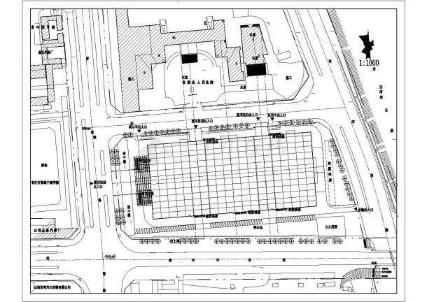 某大型家具广场屋顶花园绿化规划设计cad施工平面图(含设计说明)-图二